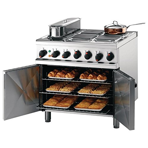 Heavy Duty 21.6kW Opus 700 Electric 6 Hob Oven Range Commercial Kitchen Restaurant Cafe Catering