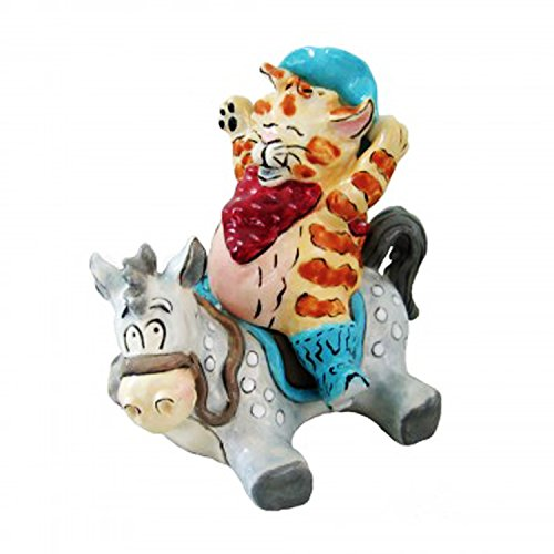 Unique Ride 'em Catboy Set Funny Silly Novelty Cat Lovers Figurine Collectible Salt & Pepper Shaker Sets Fun Quirky Stocking Stuffer Christmas Ideal Gag Gift Him Her Family Couple Boss Teacher Granny
