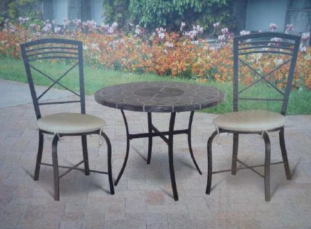 NEW MOSAIC EFFECT FAUX STONE GARDEN PATIO BISTRO TABLE