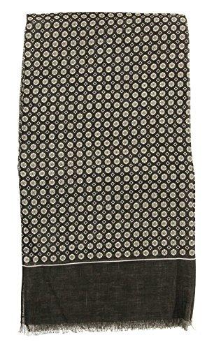 new-cesare-attolini-charcoal-gray-linen-scarf