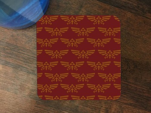 Red Triforce Pattern Silicone Drink Beverage Coaster 4 Pack by Demon Decal
