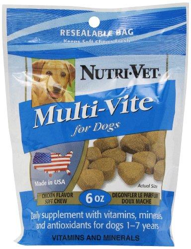 Nutri-Vet Multi-Vite Soft Chews For Dogs, 6-Ounce