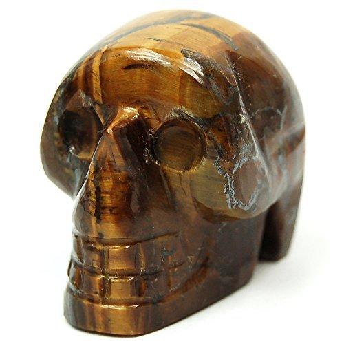 Golden Tiger Eye Mini-Skull (1) - 1pc. by Healing Crystals