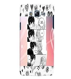 Fuson 3D Printed Love Designer back case cover for Samsung Galaxy J7 - D4599