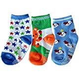 C2BB 3 pairs of boys anti slip baby socks children from 1 to 3 years old item 35