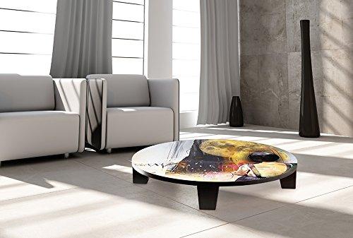"TAF DECOR ""Remember.."" Art Coffee Table, 35"" X 35"" X 7.5"", Multicolored"