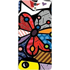 Casotec Patterns Design Hard Back Case Cover for Sony Xperia C5 Ultra Dual