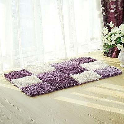 PRAGOO Checkered Area Rug Soft Shag Rug Plaid Floor Carpet Home Decor Fluffy Rug 2' x 3'