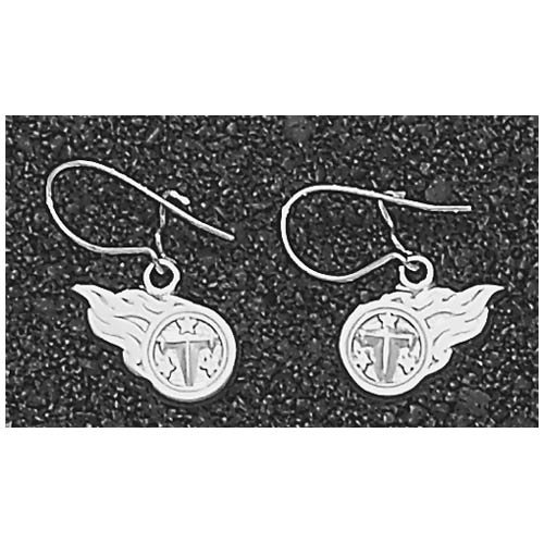 LogoArt Tennessee Titans Sterling Silver Team Fireball Dangle Earrings