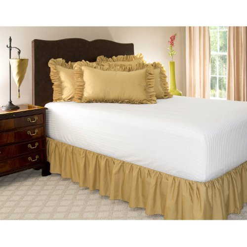 Gold Bed Skirt back-793194