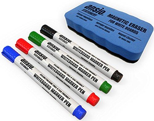 ansio-juego-de-rotuladores-para-pizarra-borrado-en-seco-incluye-borrador-magnetico