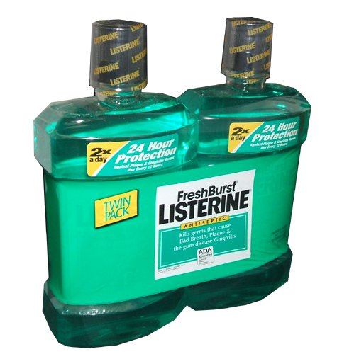 Listerine Antiseptic Mouthwash Fresh Burst Flavor 1.5 Liter Bottle (Pack Of 2) back-651167