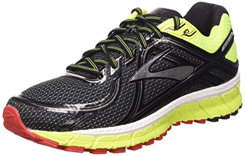 Brooks Adrenaline Gts 16 M Scarpe da corsa, Uomo, Multicolore (Black/Nightlife/High Risk Red), 43