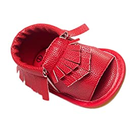 Baby Shoes Mosunx(TM) Infant Tassel Sandals Toddler Princess Shoes Sneakers Casual Shoes (6~12 Month, Red)