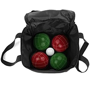 Trademark Games 9 Piece Bocce Ball Set with Easy Carry Nylon Case from Trademark Games