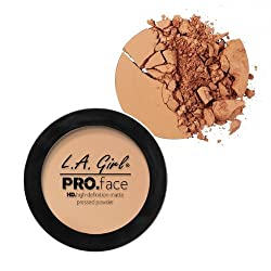L A Girl HD Pro Face Pressed Powder, Warm Honey, 7g
