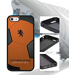Netherlands World Cup 2014 Soccer Ball Rubber Silicone TPU Cell Phone Case Cover iPhone 5 5s