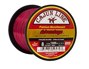Cajun Line Red Advantage 1/4-Pound Spool with Test Fishing Line from Cajun Line