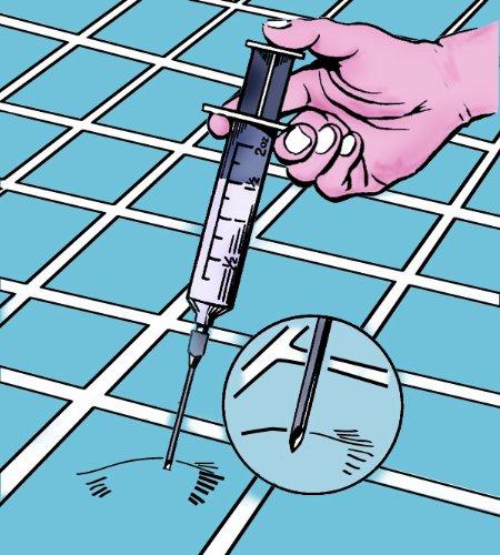 Crain 143 Adhesive Vinyl Bubble Eliminating Syringe