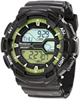 Armitron Men's 40/8246LGN Black and Lime Green Digital World Time Sport Chronograph Watch from Armitron