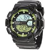 Reloj Armitron 40/8246LGN, digital, de hombre, colores negro y verde lima, pulsera de resina, con hora mundial.