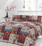 Dreams n Drapes - Juego de funda de edred�n para cama de matrimonio, dise�o de patchwork con motivos orientales