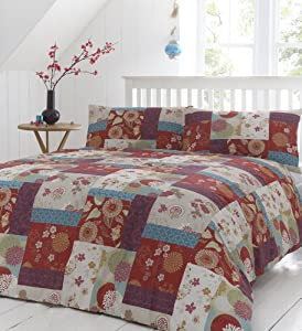 Dreams 'n' Drapes Oriental Patchwork Spice King Quilt Set