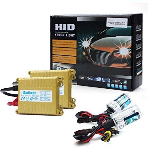 Ecosin Fashion 12V 55W Slim H8/H9/H11 3000K Xenon HID Bulb + Ballast Conversion Set Kit (D 8000K) (H11 Bulb Xenon compare prices)