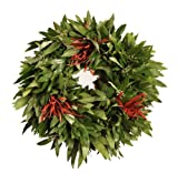 Bay Leaf Wreath with Three Sets of Chilies