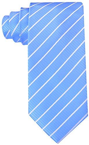 Scott Allan Mens Striped Tie - Baby Blue/White Blue Striped Suit