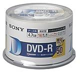 SONY DVD-R データ用 4.7GB 16倍速 50枚スピンドルケース ホワイトプリンタブル 50DMR47HPHG