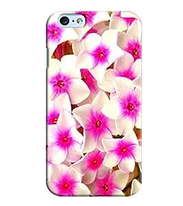 Omnam White Rose Effect Printed Designer Back Cover Case For Apple Iphone 6 S