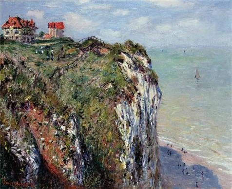 Perfect Effect Canvas ,the Imitations Art DecorativePrints On Canvas Of Oil Painting 'The Cliff At Dieppe, 1882 By Claude Monet', 18x22 Inch / 46x56 Cm Is Best For Powder Room Decor And Home Decor And (Cheetah Print Lip Tattoos)