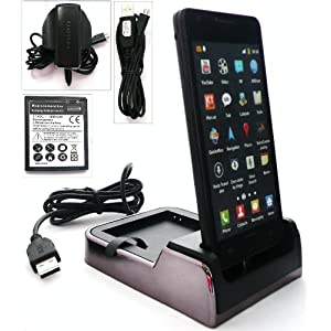 FLASH SUPERSTORE ULTIMATE POWER PACK FOR SAMSUNG I9100 GALAXY S2 INCLUDES COMPATIBLE TWIN DESKTOP DOCKING STATION CRADLE CHARGER ( HANDSET AND SPARE BATTERY CAN BE CHARGED AT THE SAME TIME ) + ORIGINAL MICRO USB 3 PIN MAINS CHARGER + ORIGINAL MICRO USB DATA AND CHARGE CABLE + COMPATIBLE SPARE 1800 mAh BATTERY