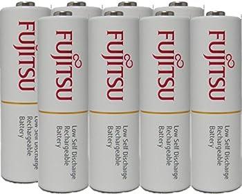 8-Pack Fujitsu Rechargeable AA Batteries