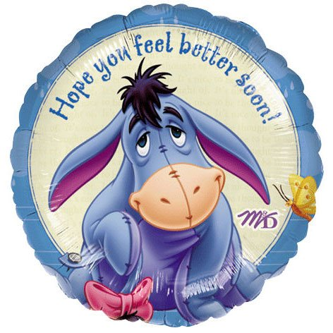 18 Inch Eeyore Feel Better Balloon