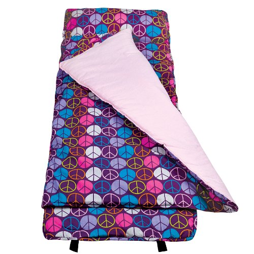 Wildkin Peace Signs Purple Nap Mat