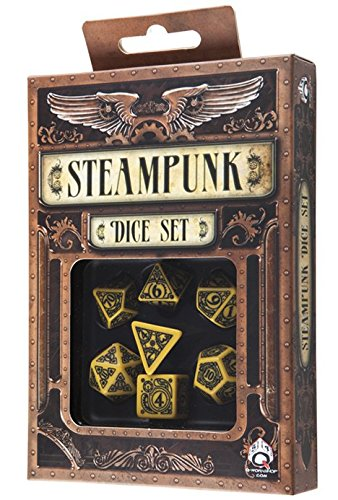 Q-Workshop Polyhedral 7-Die Set: Carved Steampunk Dice Set (Yellow and Black) (7 Days To Die Steam compare prices)