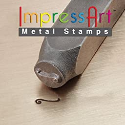 ImpressArt, Metal Jewelry Design Stamp, Flourish E, 6mm