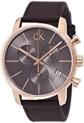 Calvin Klein ck City Leather Chronograph Mens Watch K2G276G3