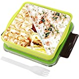Bento Box, Danibos Bento Lunch Boxes For Kids & Adults Fit And Fresh Food-safe Material Durable Microwave Safe Dishwasher Safe(Grass Green)