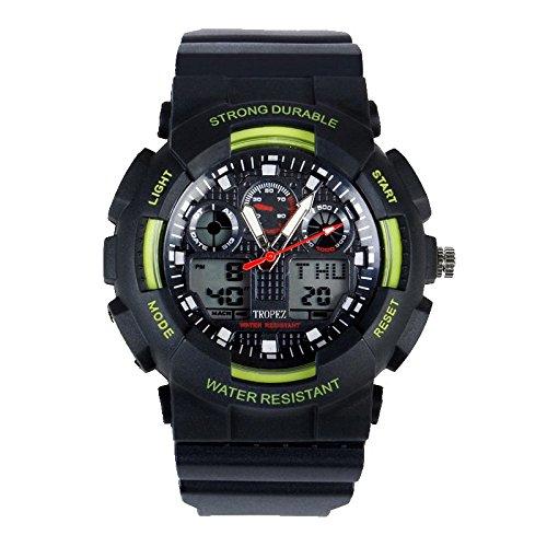 Tropez Outdoor Analog Digital Dual Time Sports Unisex Watch Green