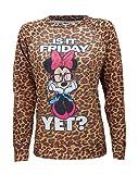 Disney Minnie Mouse Is It Friday Yet Sublimated Raglan, Ladies, Longsleeve