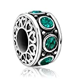JMQJewelry Heart Birthday Love May Birthstone Thanksgiving Charm Beads For Bracelets Women
