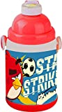 Rovio Angry Bird Insulated Water Bottle Push Button, 55mm, Red