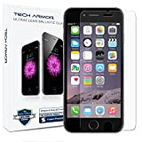 iPhone 6 Plus (5.5 inch ONLY) HD Clear Ballistic Glass Screen Protector, Tech Armor Apple iPhone 6 Plus Premium HD Clear Ballistic Glass Screen Protector - Protect Your Screen from Scratches and Drops - Maximize Your Resale Value - 99.99% Clarity and Touchscreen Accuracy ~ Tech Armor