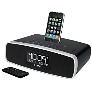 iHome iP92BZ Dual-Alarm Clock Radio for your iPhone/iPod with AM/FM Presets (Black)