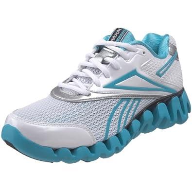 Reebok Women's Zigfuel Running Shoe,White/Glacier Blue/Silver,10.5 M US