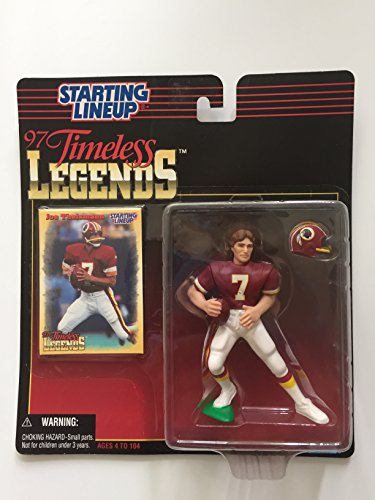 JOE THEISMANN / WASHINGTON REDSKINS * 1997 TIMELESS LEGENDS Kenner NFL Starting Lineup & Exclusive Collector Trading Card