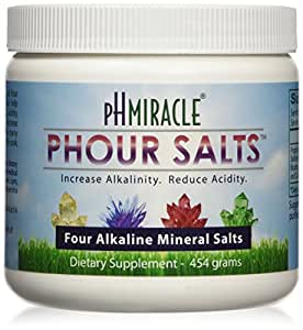 Young Phorever Phour Salts Powder By Ph Miracle Living and Dr. Robert O Young Provides Four Salt Minerals Sodium Bicarbonate, Magnesium Chloride, Potassium Bicarbonate, and Calcium Chloride